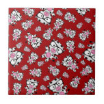 Red nerd cow pattern ceramic tiles