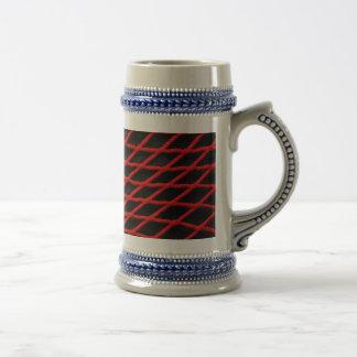 Red net pattern beer stein