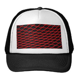 Red net pattern mesh hats