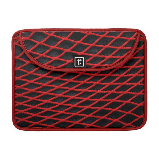 Red net pattern sleeve for MacBooks