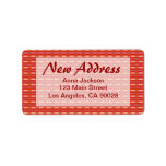 Red New Address Address Label