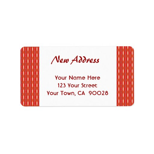 Red New Address Custom Address Labels