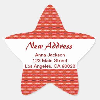 Red New Address Star Sticker