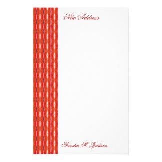 Red New Address Stationery