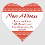 Red New Address Stickers