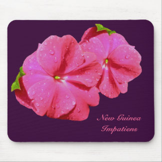 Red New Guinea Impatiens Coordinating Items Mouse Pad
