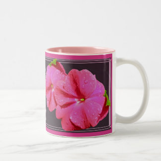 Red New Guinea Impatiens Coordinating Items Two-Tone Coffee Mug
