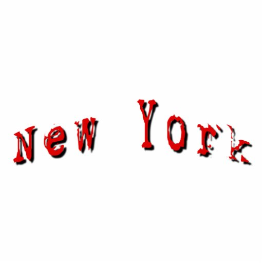 Red New York Photo Sculpture