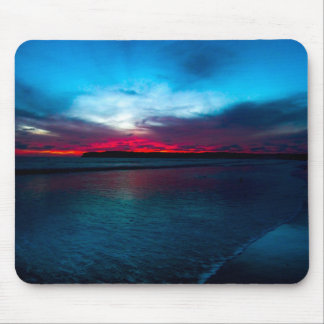 Red night mouse pad