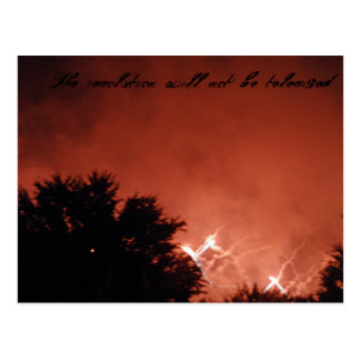 Red Night Sky Postcard