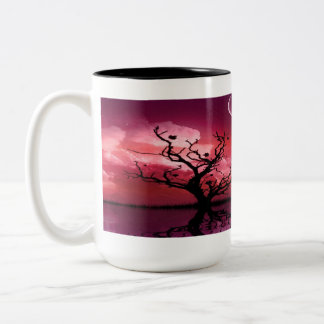 Red Night Sky Reflections Scenic Coffee Mug