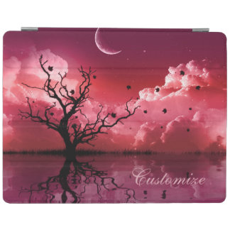 Red Night Sky Reflections Scenic iPad Cover
