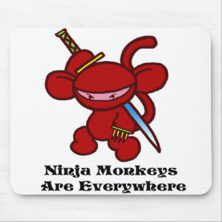 Red Ninja Claw Mouse Pad