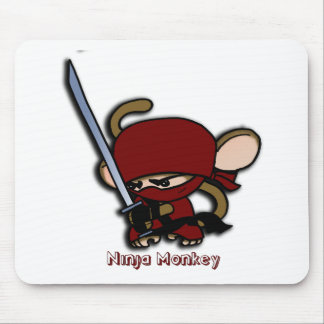 Red Ninja Monkey Mouse Pad