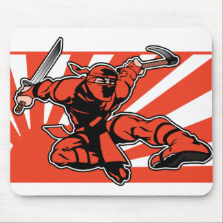 Red Ninja Mouse Pad