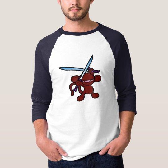 Red Ninja Overhead-No Words T-Shirt
