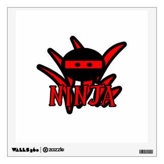 Red Ninja Wall Decal