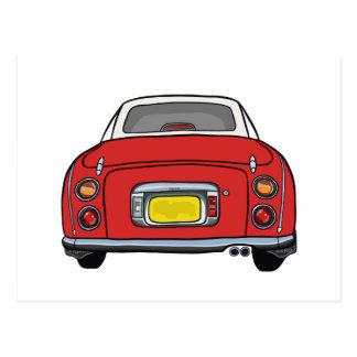 Red Nissan Figaro Car Postcard