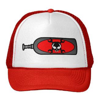 Red Nitrous bottle skull hat Wyldfantasies
