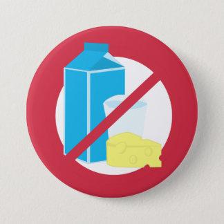 Red No Dairy Allergy Alert Kids Pinback Button