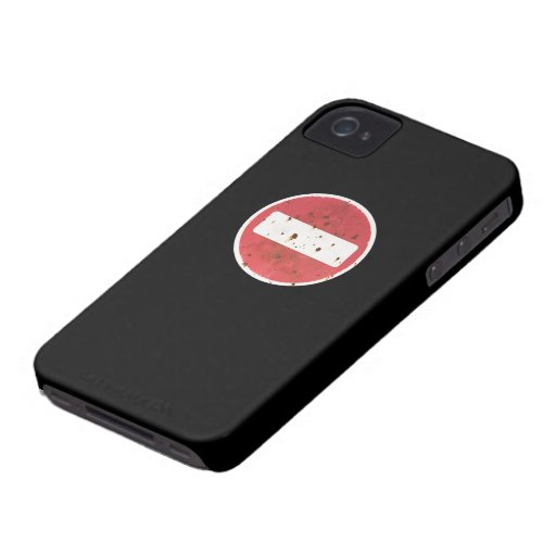 """Red """"NO ENTRY"""" sign iPhone case iPhone 4 Cases"""