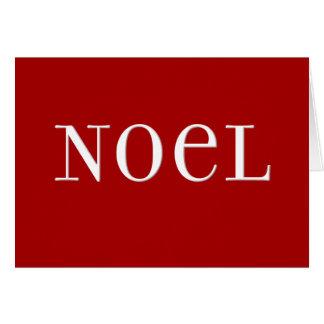 Red Noel Christmas Card
