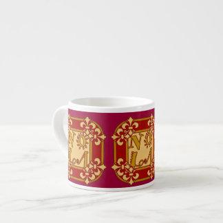Red NOLA Fleu De Lis Espresso Cup