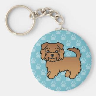 Red Norfolk Terrier Key Chains