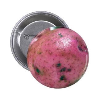 Red Norland potato Pinback Button