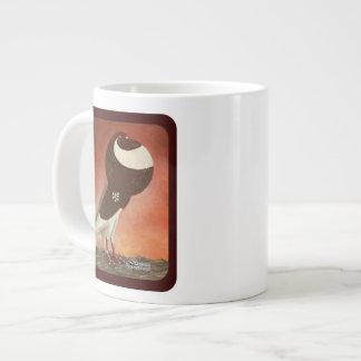 Red Norwich Cropper Pigeon Large Coffee Mug