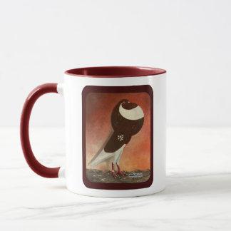 Red Norwich Cropper Pigeon Mug