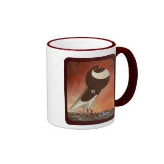Red Norwich Cropper Pigeon Coffee Mug