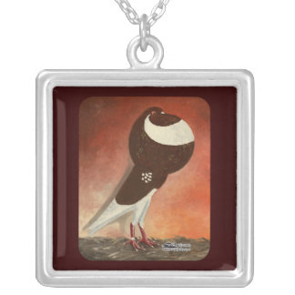 Red Norwich Cropper Pigeon Necklace
