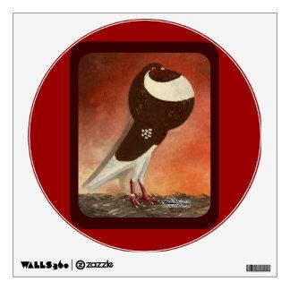 Red Norwich Cropper Pigeon Wall Sticker