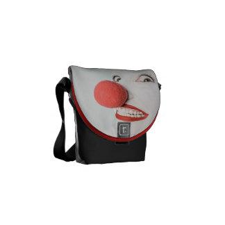 Red nose clown messenger bag