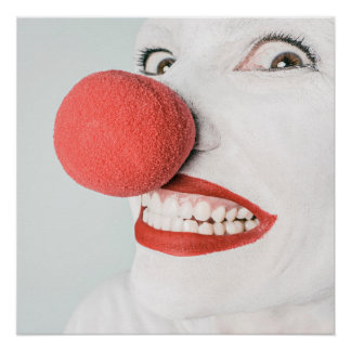 Red nose clown poster