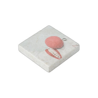 Red nose clown stone magnet