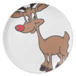 Red Nose Rudolph Party Plates
