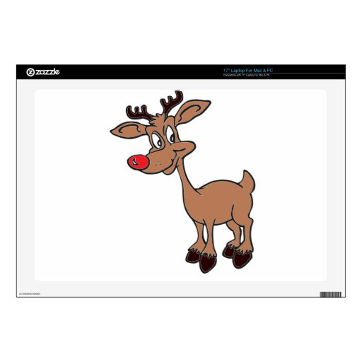 Red Nose Rudolph Laptop Decal