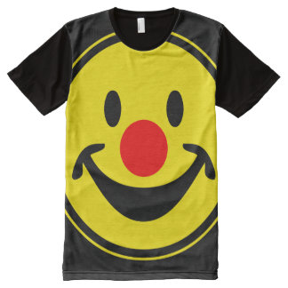 Red Nose Smiley yellow + your backg. & ideas All-Over Print T-shirt