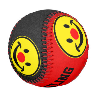 Red Nose Smiley yellow + your backg. & ideas Baseball