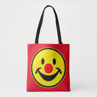 Red Nose Smiley yellow + your backg. & ideas Tote Bag