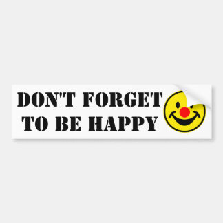 Red Nose Smiley - yellow + your ideas Car Bumper Sticker
