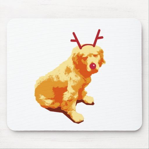 Red-nosed Dog Mouse Pad