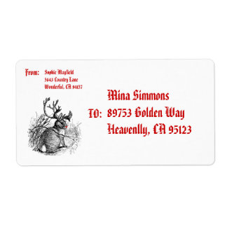 red nosed jackalope Shipping Label