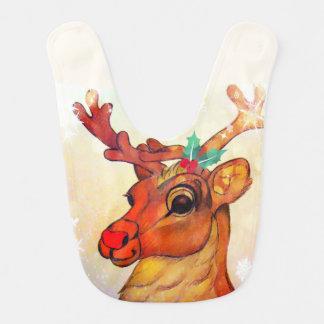 Red Nosed Reindeer Baby Bib