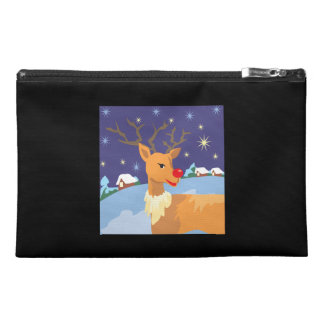 Red Nosed Reindeer Travel Accessory Bag