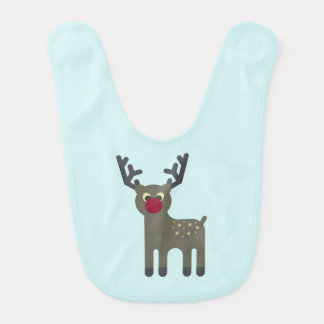 Red Nosed Reindeer Bib
