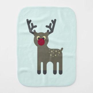 Red Nosed Reindeer Burp Cloth