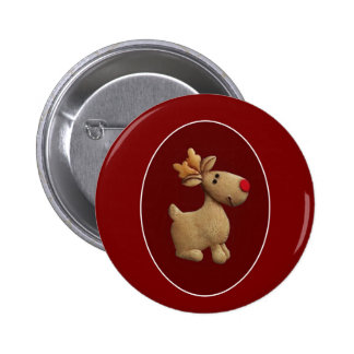 Red Nosed Reindeer 2 Inch Round Button